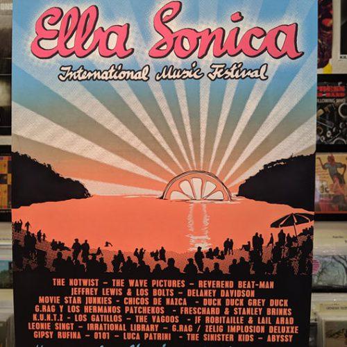 Siebdruck-Poster Elba Sonica 2019